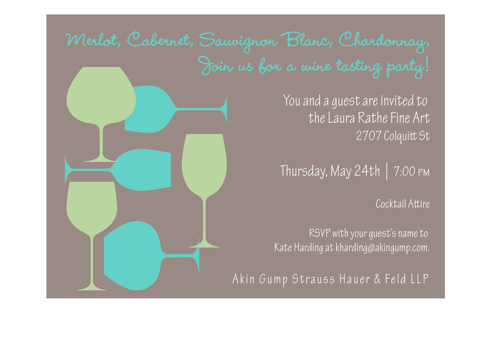 FangMei Liu Portfolio Site – Wine Tasting Party Invitation Wording